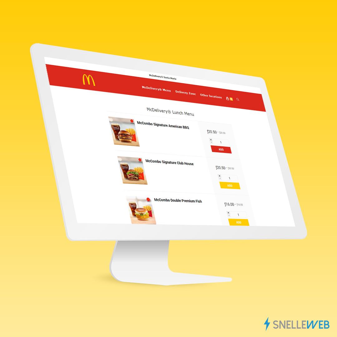 McDelivery® ordering platform